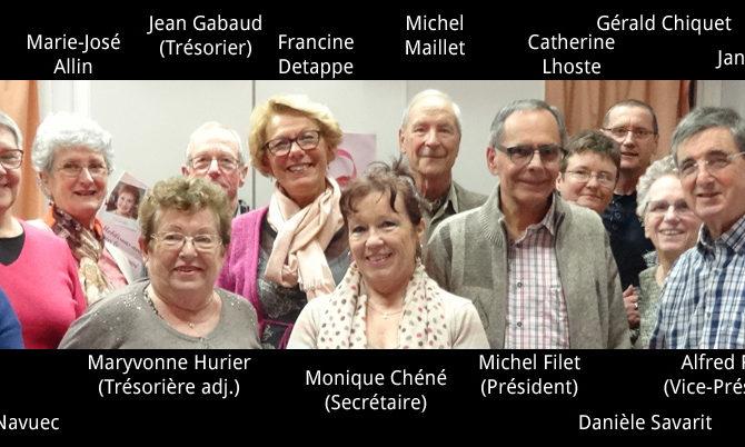 Les membres du CA 2016 de Nieul-Gym-Loisirs