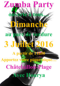 Affiche Zumba party Châtelaillon 2016