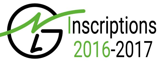 Inscriptions 2016-2017