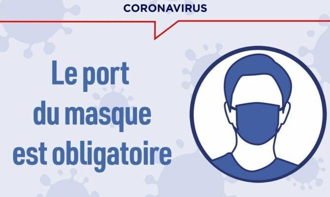 Port du masque obligatoire autour de l'espace Crépeau